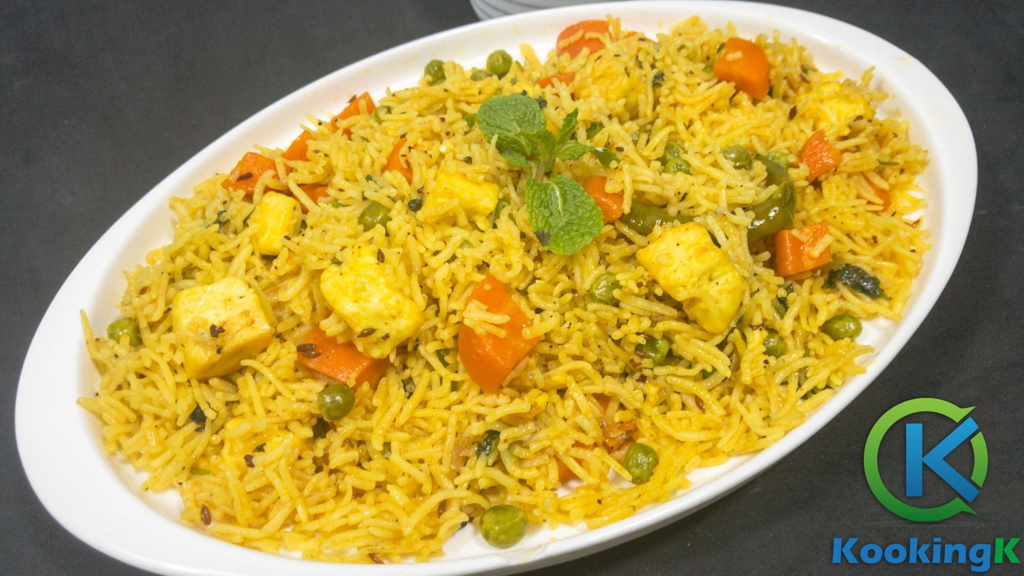 Paneer Vegetable Pulao - Quick & Easy Paneer Pulao Recipe by KooKingK